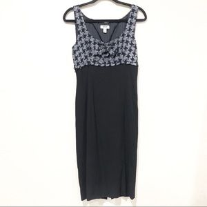 Moschino Cheap & Chic Houndstooth Knit Dress